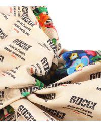 Gucci Multicolor Invite Silk Twill Headband