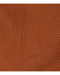 Jil Sander Brown Draped Wool And Cashmere Sweater