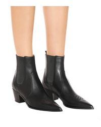 Gianvito Rossi Black Austin Leather Chelsea Boots