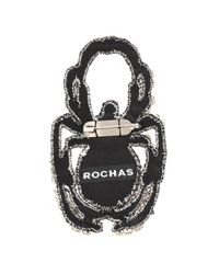 Rochas White Crystal-embellished Brooch