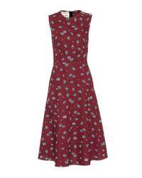 Marni Red Daisy Cotton Dress