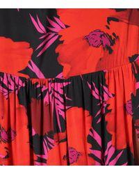 Falda Serence de seda floral Veronica Beard de color Red