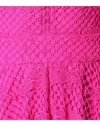Temperley London Pink Midikleid Hollyhock