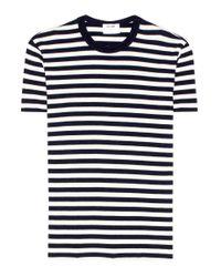 T-shirt a righe in cotone di Re/done in Blue