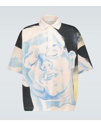 J.W. Anderson Bedrucktes Poloshirt aus Baumwolle in Multicolor für Herren