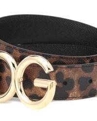 Cinturón reversible de piel Dolce & Gabbana de color Multicolor
