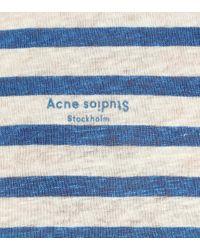 Acne Blue T-Shirt aus Leinen
