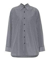 Balenciaga Blue Pinched Collar Cotton-blend Shirt