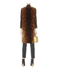 Dolce & Gabbana Metallic Printed Velvet Silk-Blend Coat