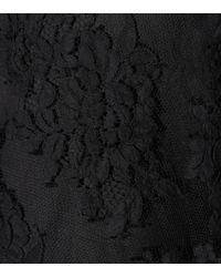 Zimmermann Black Asymmetric Silk Lace Top
