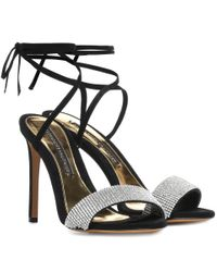 Sandales en daim à cristaux Kim Alexandre Vauthier en coloris Black
