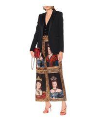 Pantalon ample imprimé en soie Dolce & Gabbana en coloris Black