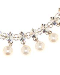 Collar de cristales y perlas artificiales Miu Miu de color Multicolor