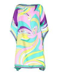 Vestido corto de seda estampado Emilio Pucci de color Multicolor