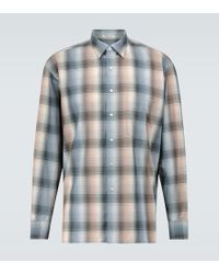 Camicia in lana di Auralee in Blue da Uomo