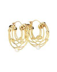 Ellery Metallic Ohrringe Classical Scaffolding mit Perle