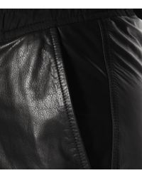 Pantalon sarouel en cuir Rick Owens en coloris Black
