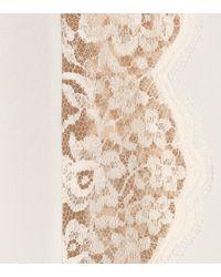 Stella McCartney - White Lace-trimmed Silk Slip Dress - Lyst