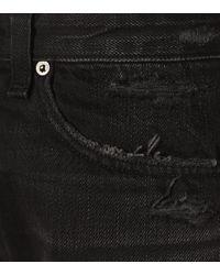 Rag & Bone Black High-Rise Jeansshorts Maya