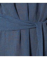 Abito monospalla Arden in lino di Lisa Marie Fernandez in Blue