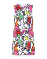 Versace Multicolor Bedrucktes Etuikleid