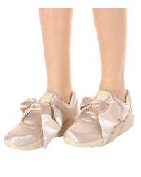 PUMA Pink Sneakers aus Satin