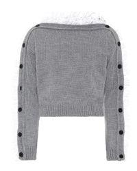 Pullover in lana con ruches di Philosophy Di Lorenzo Serafini in Gray