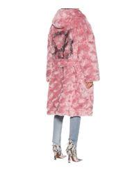 Vetements Pink Cotton And Alpaca Coat