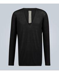 Rick Owens Oversize-Pullover aus Wolle in Black für Herren