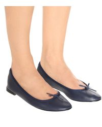 Ballerines en cuir Cendrillon Repetto en coloris Black
