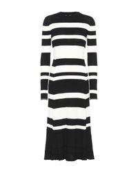 Proenza Schouler Black Kleid mit Wolle, Seide und Kaschmir