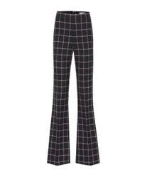 Pantalon évasé Peta à carreaux Rebecca Vallance en coloris Black
