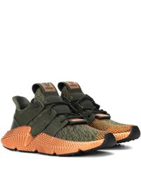 Adidas Originals Green Prophere Leather-trimmed Sneakers