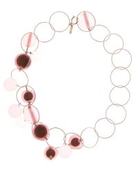 Marni - Pink Bauble Necklace - Lyst