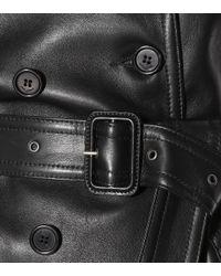 Trench-coat en cuir Saint Laurent en coloris Black