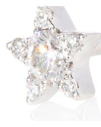Maria Tash White Einzelner Ohrring Diamond Star aus 18kt Weißgold mit Diamanten