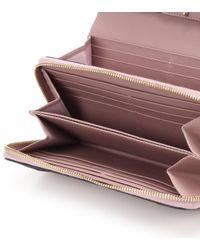 Cartera de cuero Carry Secrets de Valentino de color Pink