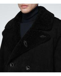 Cappotto shearling di Tom Ford in Black da Uomo
