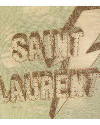 Saint Laurent Green T-Shirt aus Baumwollgemisch