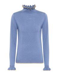 Shrimps Blue Norah Wool Sweater