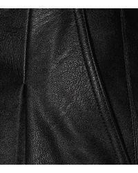 Stella McCartney Black Danielle Faux Leather Shorts