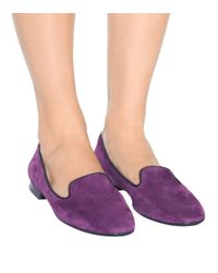 Tod's Purple Exklusiv bei Mytheresa – Ballerinas aus Veloursleder