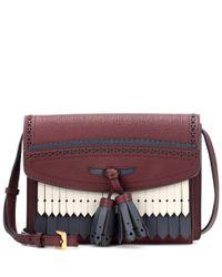 Burberry Red Schultertasche Mackhin Small aus Leder