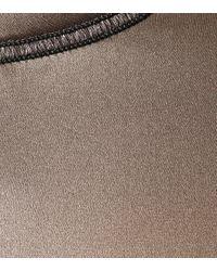 Brunello Cucinelli Brown Silk Satin Top