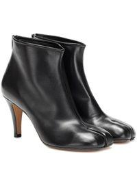 Maison Margiela Black Tabi Leather Ankle Boots