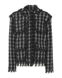 Giacca in tweed di MSGM in Black