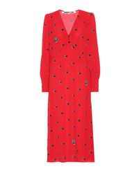 McQ Alexander McQueen Red Printed Midi Dress