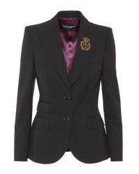 Dolce & Gabbana Black Wool-blend Blazer