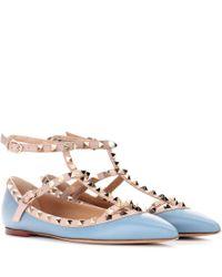 Garavani - Ballerines En Cuir Rockstud Valentino en coloris Blue