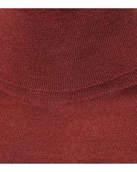 Brunello Cucinelli Purple Cashmere And Silk Sweater